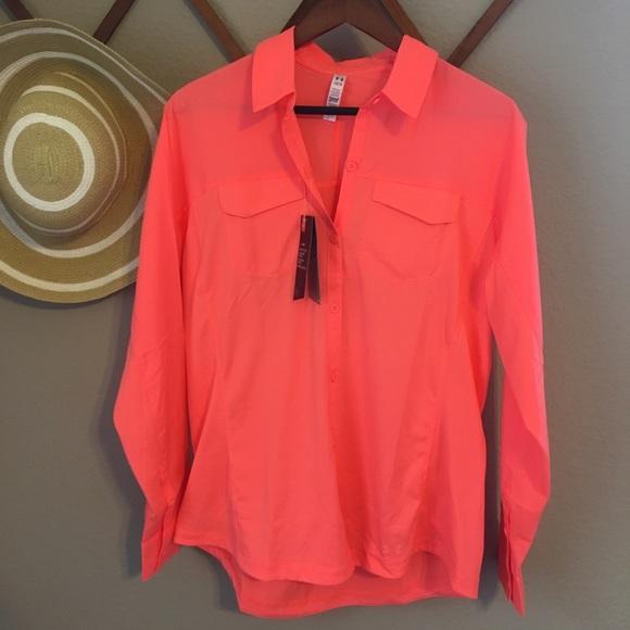 Under Armour Tops - NEW women's Fluorescent Pink Long Sleeve Top